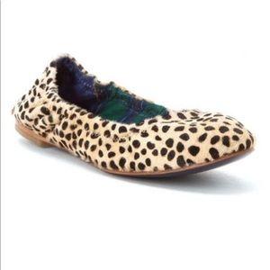 Hardy Design Works Leopard Pony Hair Flats